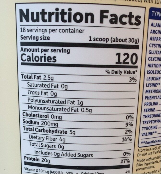 Chocolate Organic Plant-Based Delicious Protein Shake - Nutrition facts - en