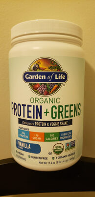 Organic Protein + Greens Delicious Protein & Veggie Shake - Produit - en