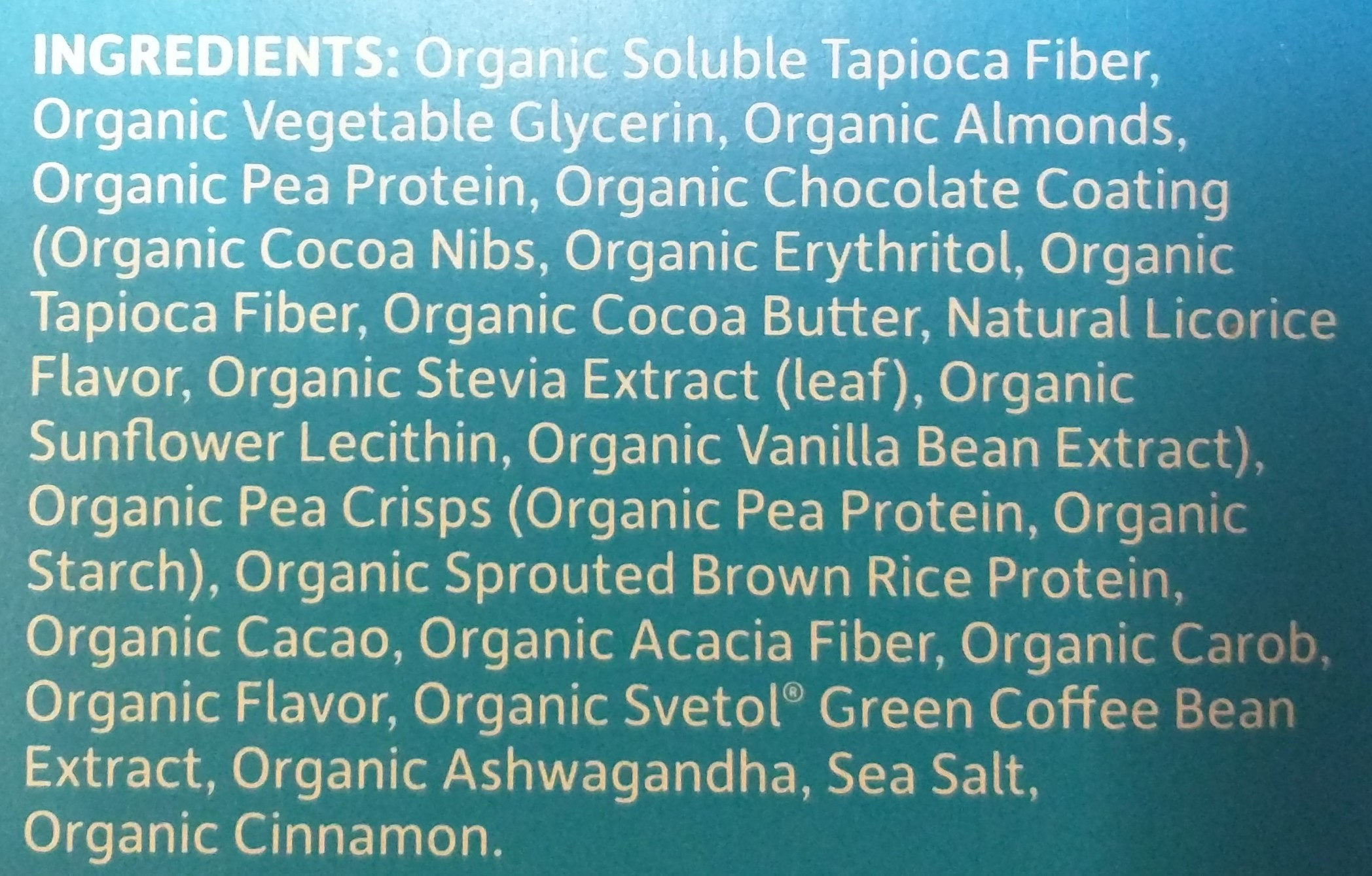 Plant-based high protein weight loss bar - Ingredients - en