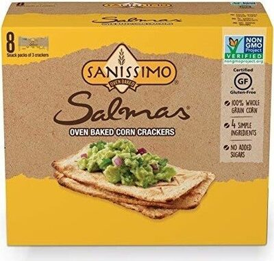 Salmas oven baked corn crackers - Producto - es