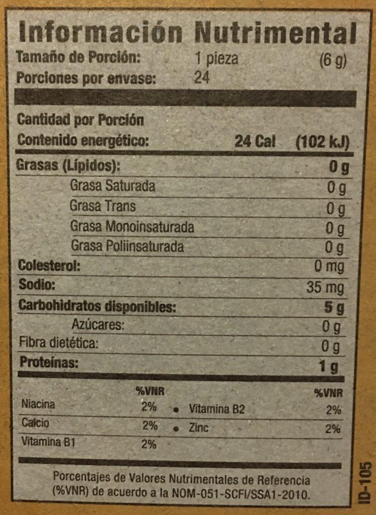 SALMAS HORNEADAS - Informations nutritionnelles - fr
