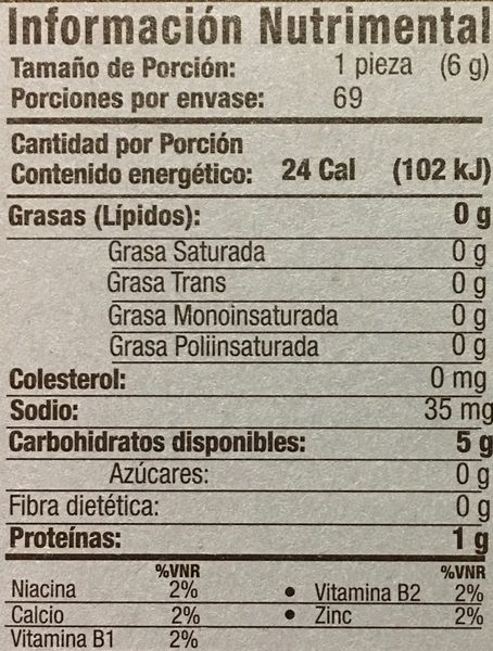 Salmas - Informations nutritionnelles - es