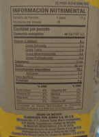 Tostadas horneadas de maiz - Información nutricional - es