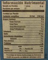 SANÍSSIMO - Informations nutritionnelles - es