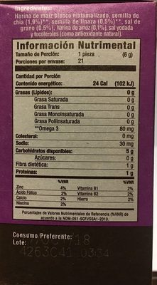 Salmas - Nutrition facts