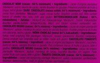 Plantation Maralumi Noir 64% - Ingredients