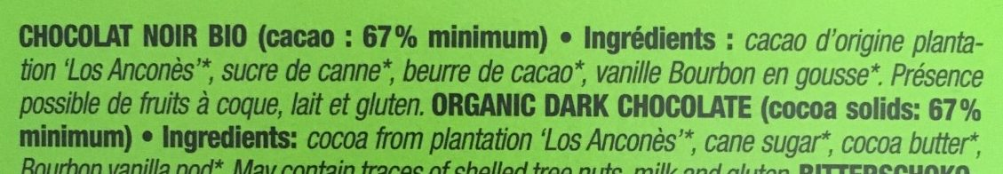 Los ancones chocolate pct - Ingredients - fr