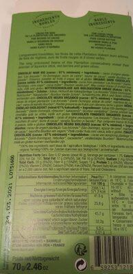 Los ancones chocolate pct - Nutrition facts - fr