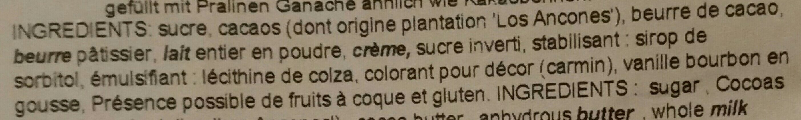 Poche Fèves De Ganache - Ingrediënten - fr