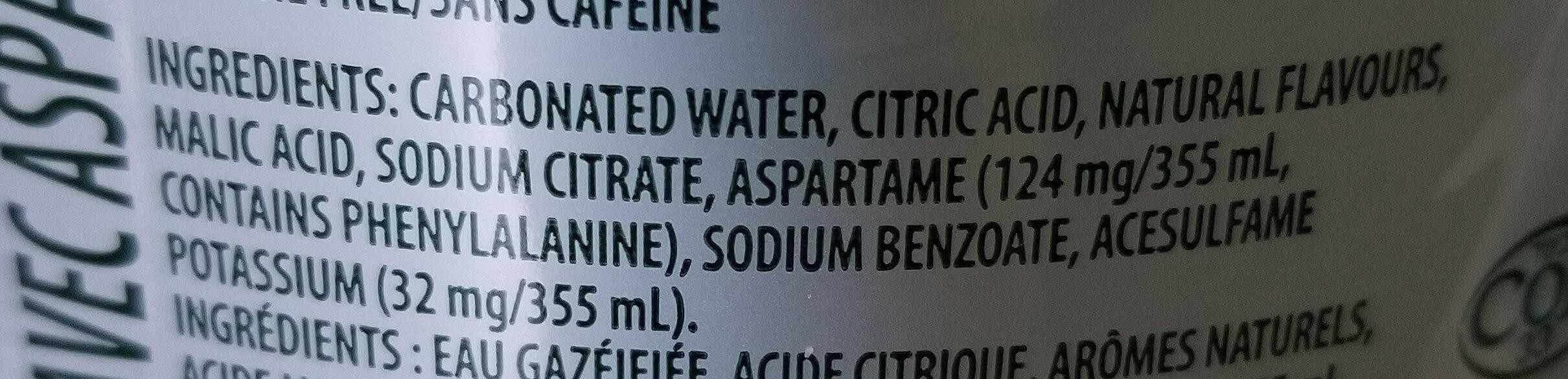 7up - Ingrédients - en