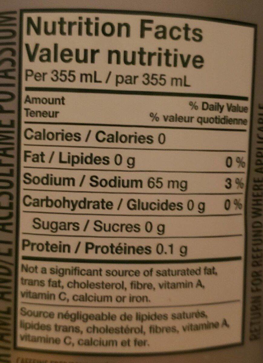7up - Informations nutritionnelles - en