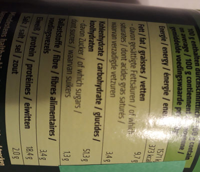 dinkels parmesan - Nutrition facts