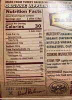 Organic applewood smoked uncured turkey bacon - Nutrition facts - en