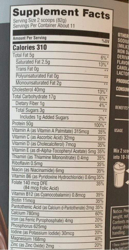 Pro Series Protein Powder, Knockout Chocolate - Nutrition facts - en