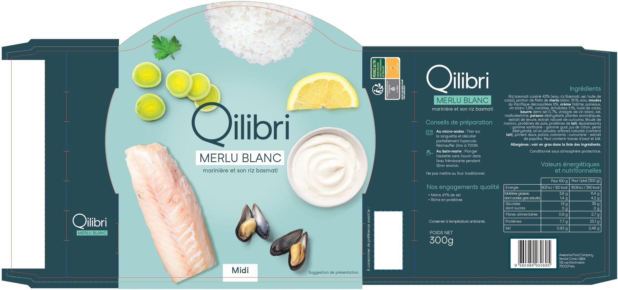Merlu blanc marinière et son riz basmati - Produit - fr