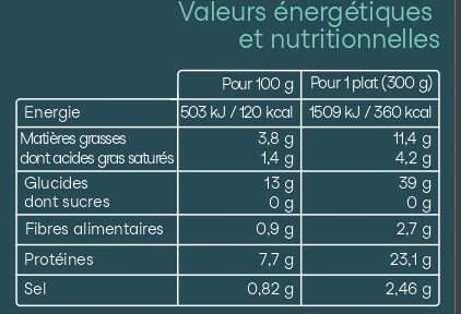 Merlu blanc marinière et son riz basmati - Nutrition facts - fr