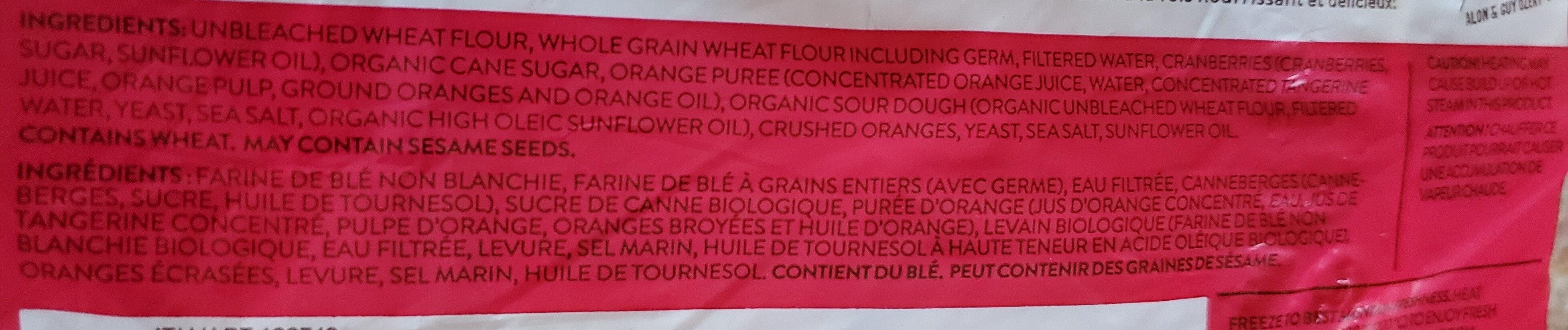 Petits pains aux fruits et aux grains - Ingrediënten - fr