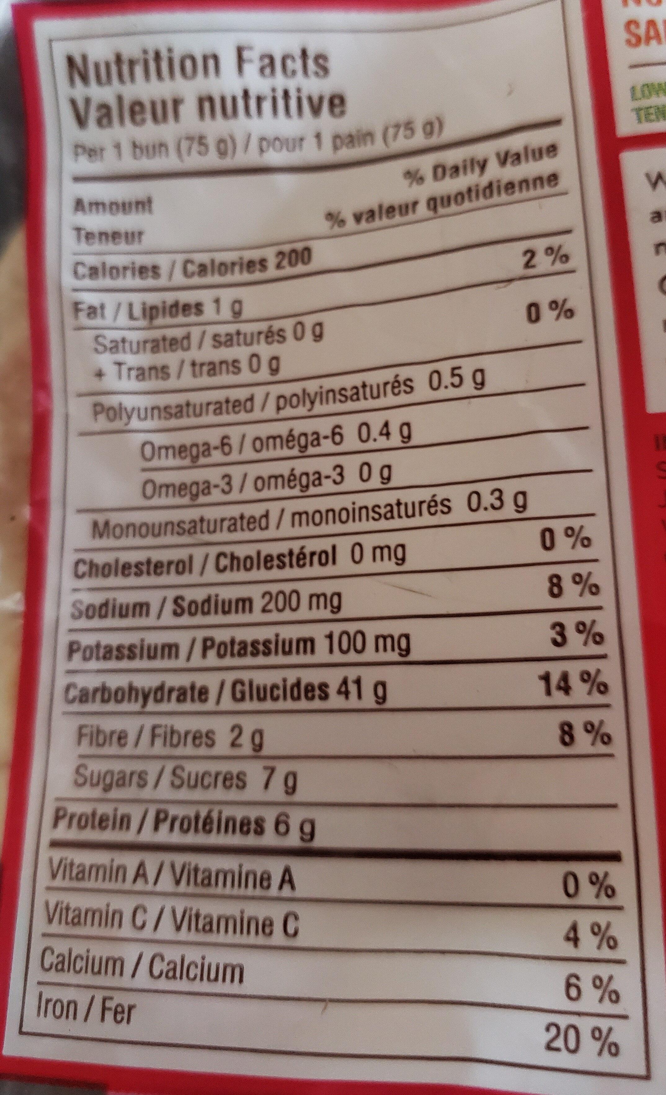 Petits pains aux fruits et aux grains - Voedingswaarden - fr