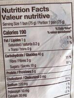Petits pains a dejeuner - Nutrition facts - en