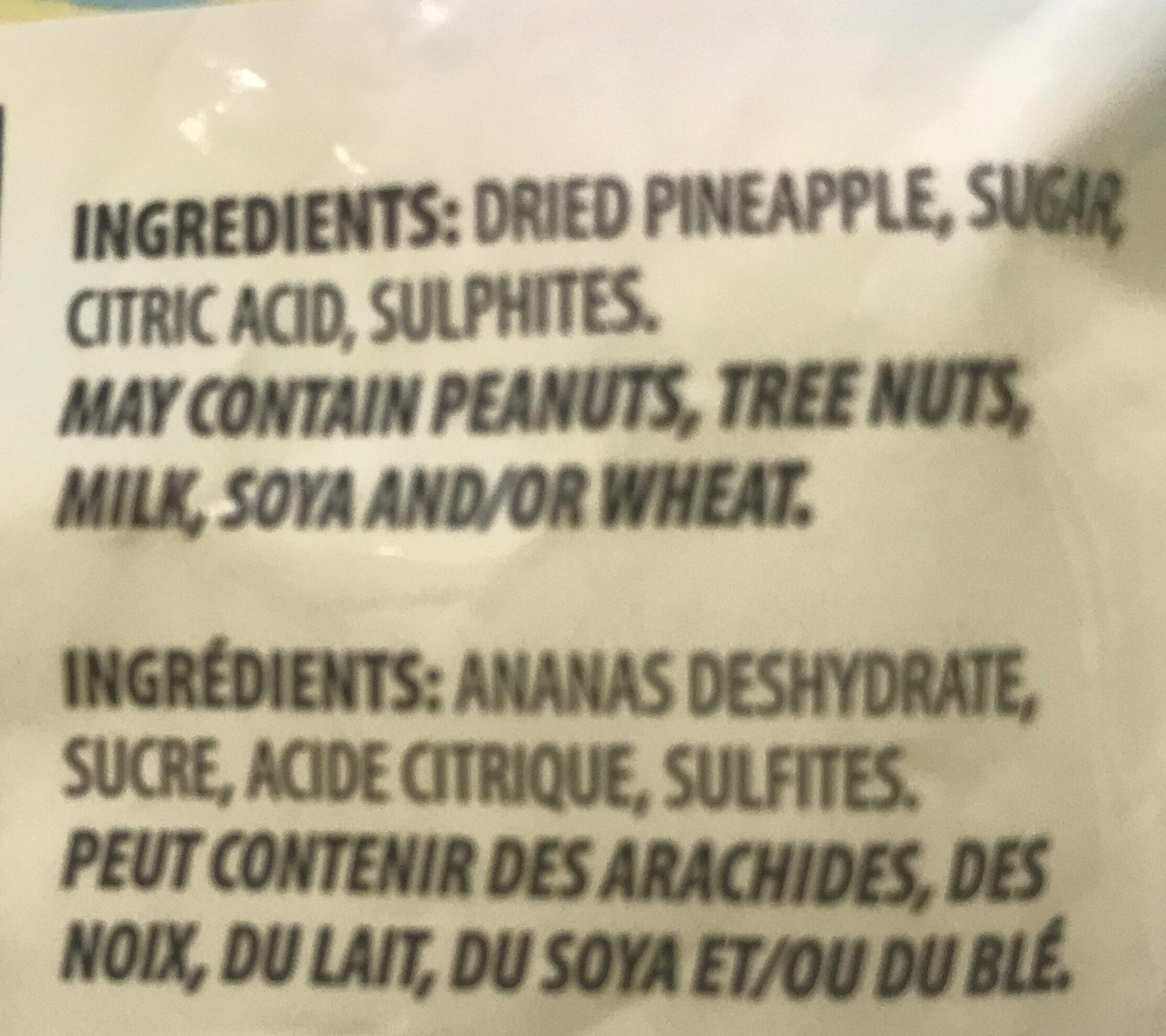 Ananas séchés - Ingrédients - en