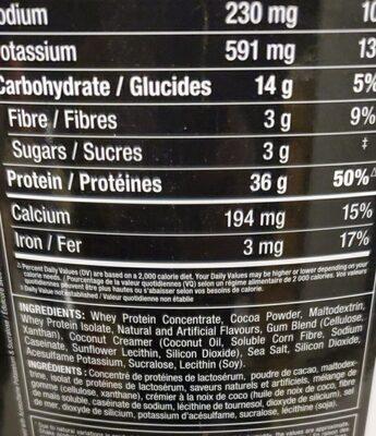 mmx protein powder - Ingredients - en
