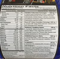 Humavol X2 - Informations nutritionnelles