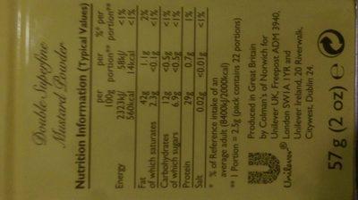 Colman's Mustard of Norwich (powder) - Ingrédients