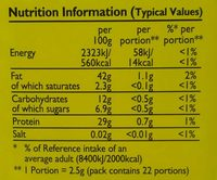 Colman's Mustard of Norwich (powder) - Informations nutritionnelles