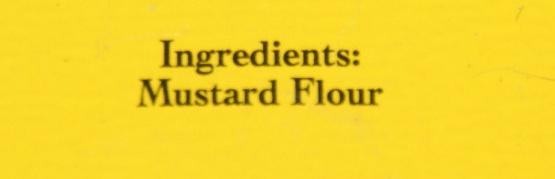 Mustard Powder - Ingredients