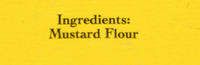 Colman's Mustard - Ingredients
