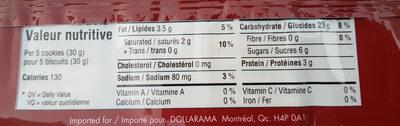 social tea biscuits - Informations nutritionnelles - en