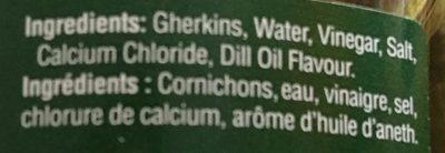 Cornichons - Ingrédients - fr