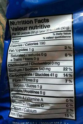 Mini Pretzels - Nutrition facts - en