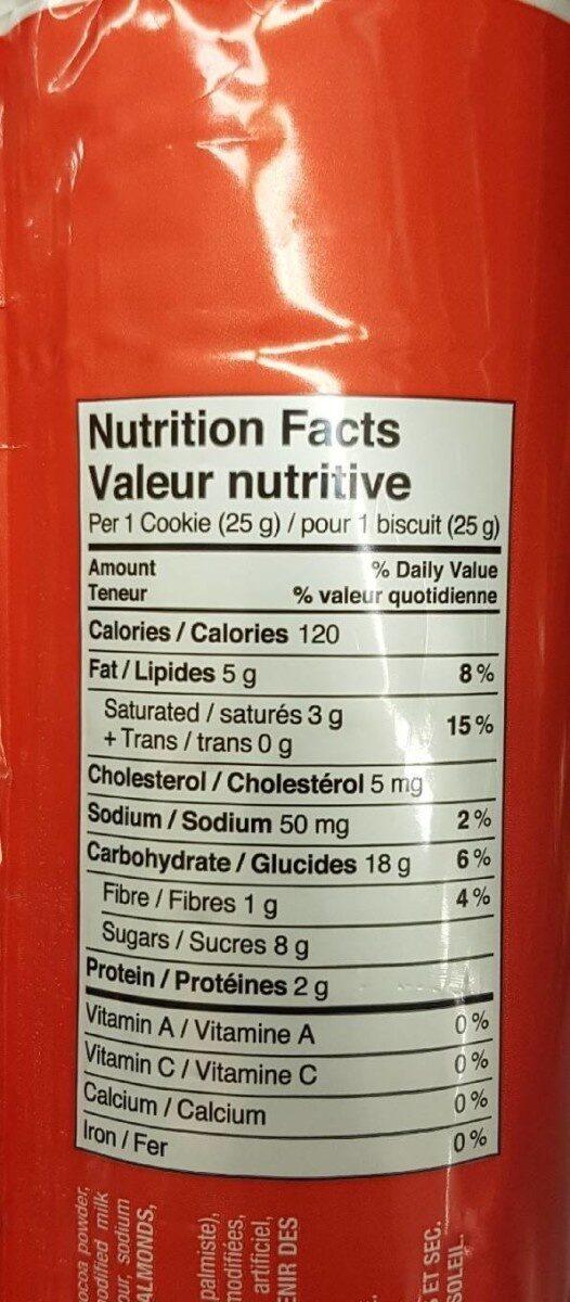 Biscuits fourrés - Informations nutritionnelles - en