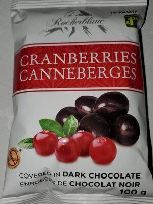 Canneberges enrobées chocolat - Product - fr