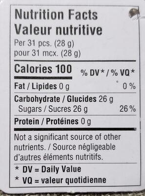 Bonbon de pâques - Nutrition facts - fr
