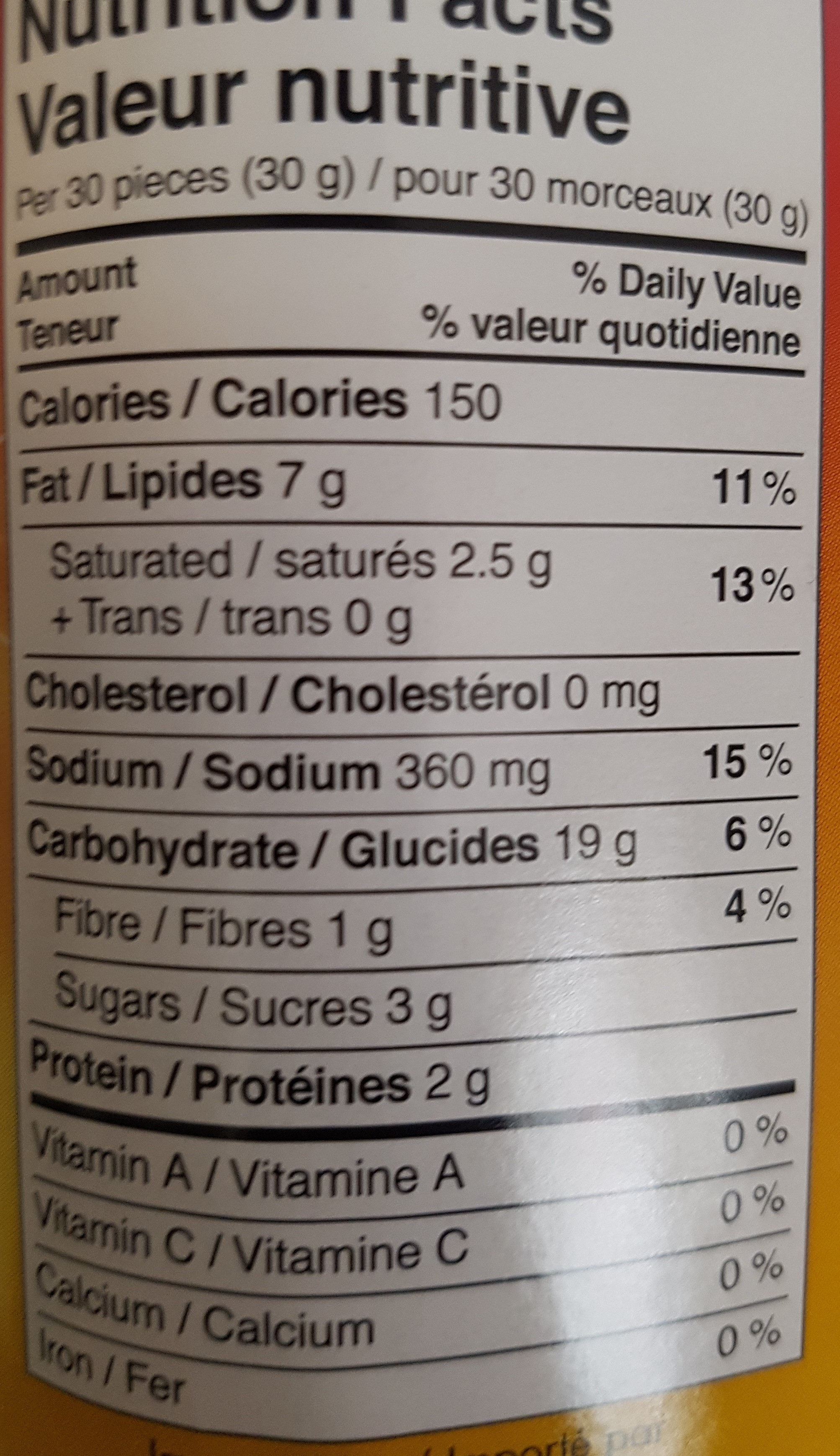 krit - Voedingswaarden - fr