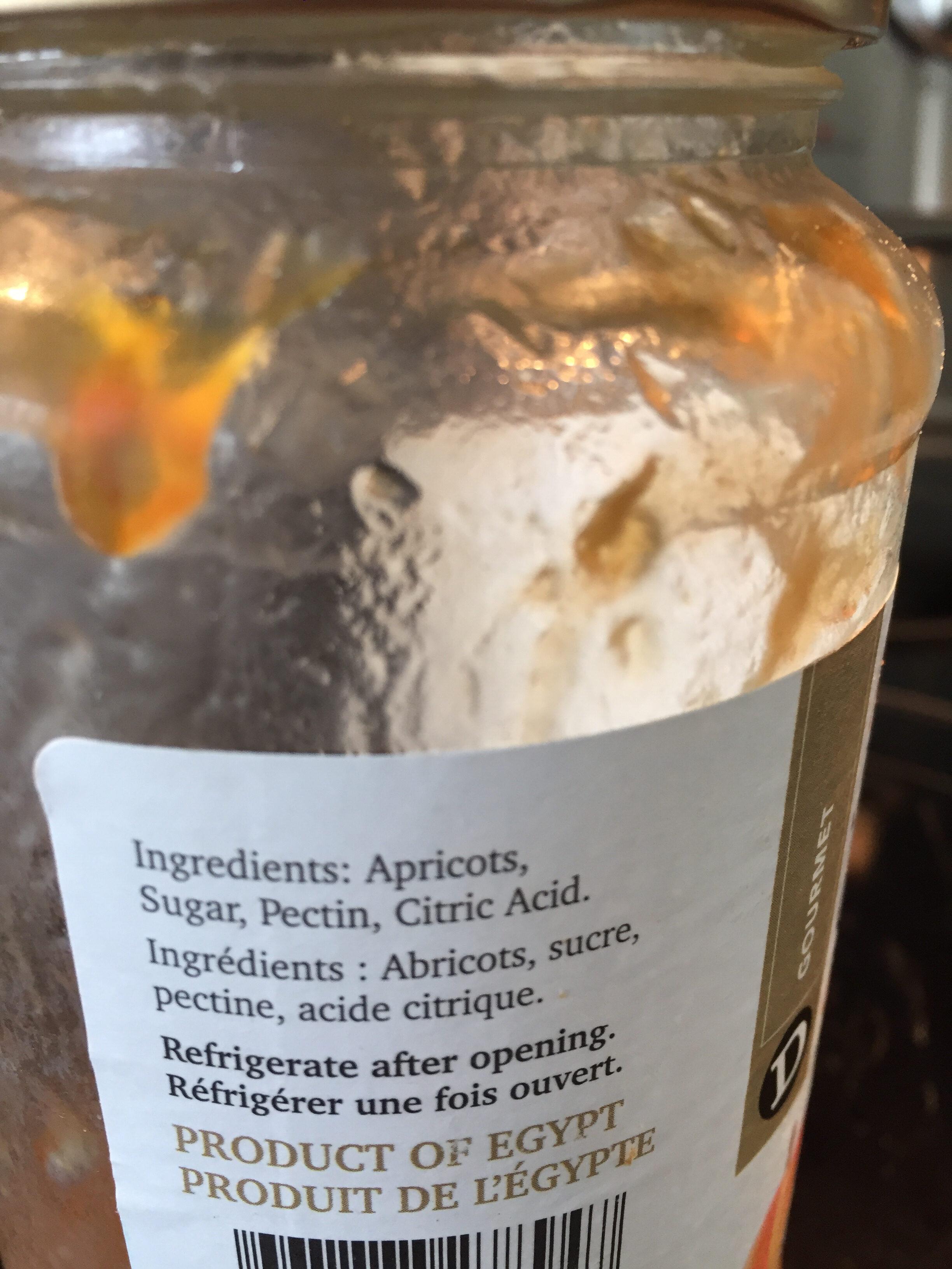 Confiture d'abricot - Ingrédients - fr