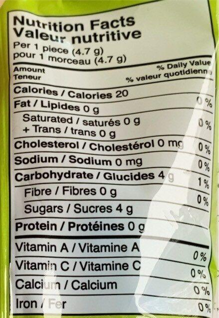 Boules de gomme - Nutrition facts - en