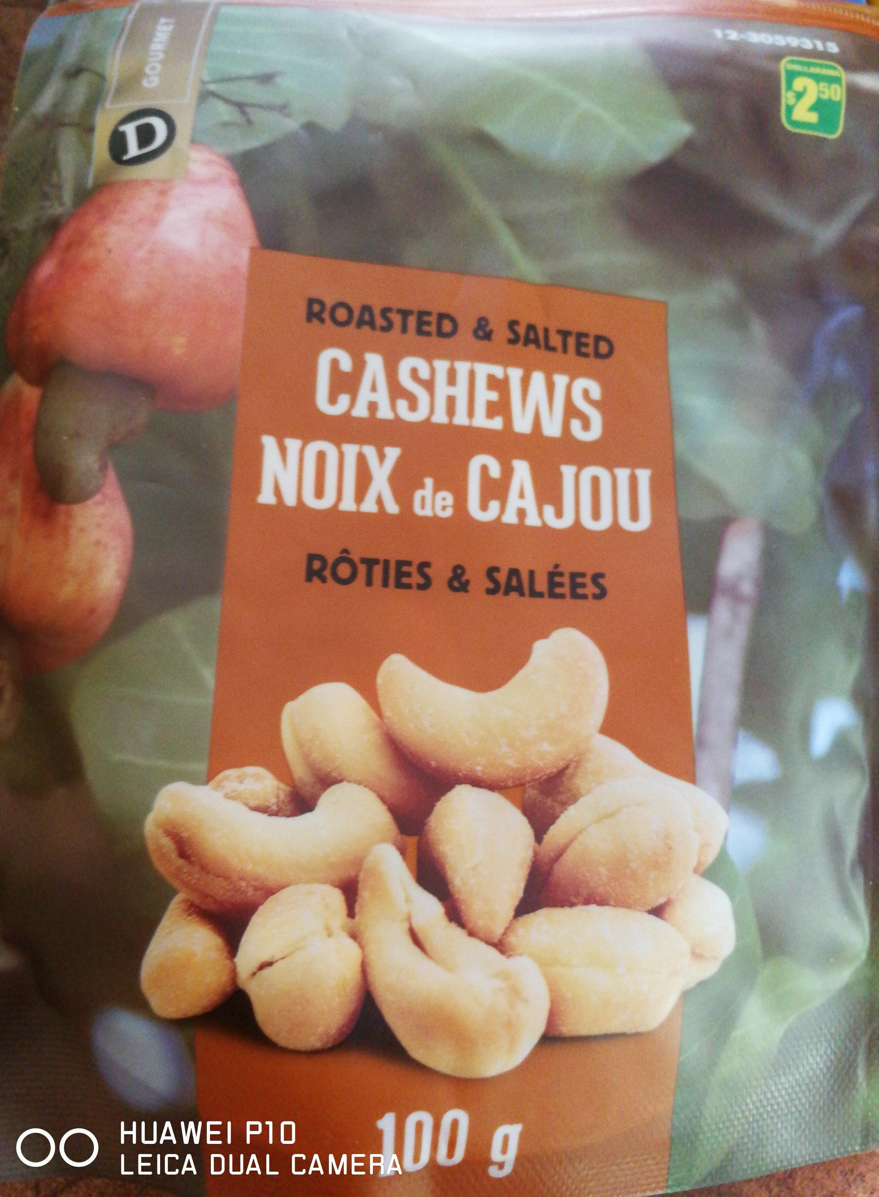 Noix de cajou rôties et salées - Product - fr
