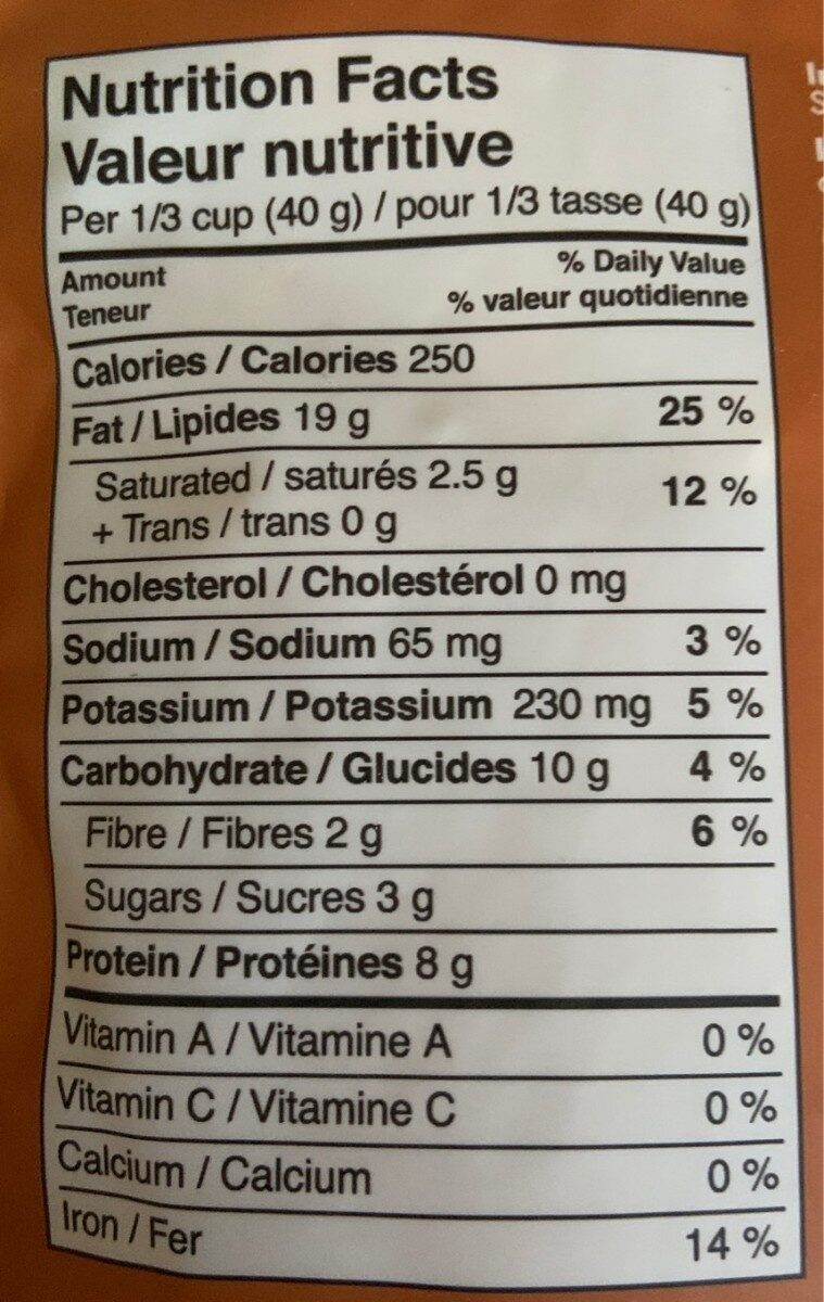 Noix de cajou rôties et salées - Nutrition facts - fr