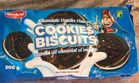 Chocolate vanilla flavour biscuits - Produit - fr
