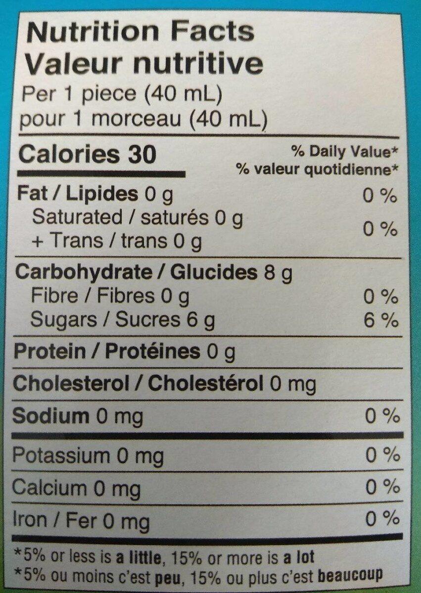 Polaretti fruit bio - Nutrition facts - fr