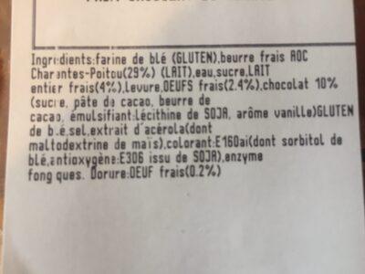 Pain au chocolat - Ingrediënten - fr