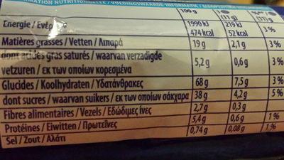 oreo original - Nutrition facts