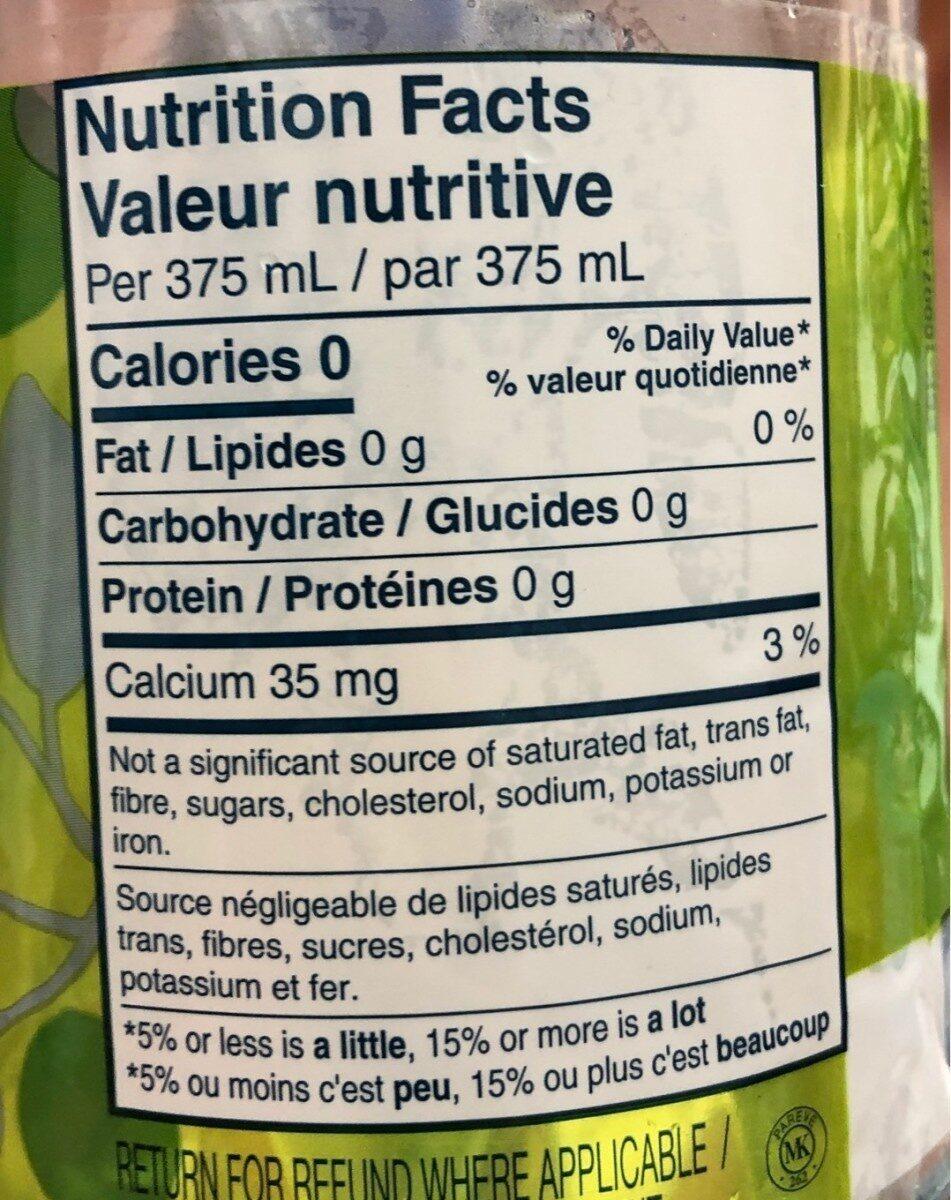 Clair et net tangerine et lime - Nutrition facts - fr