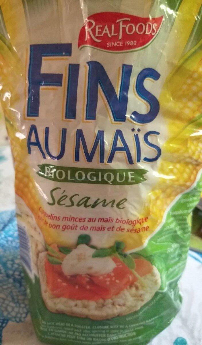 Fins au maïs biologique sésame - Produit - fr