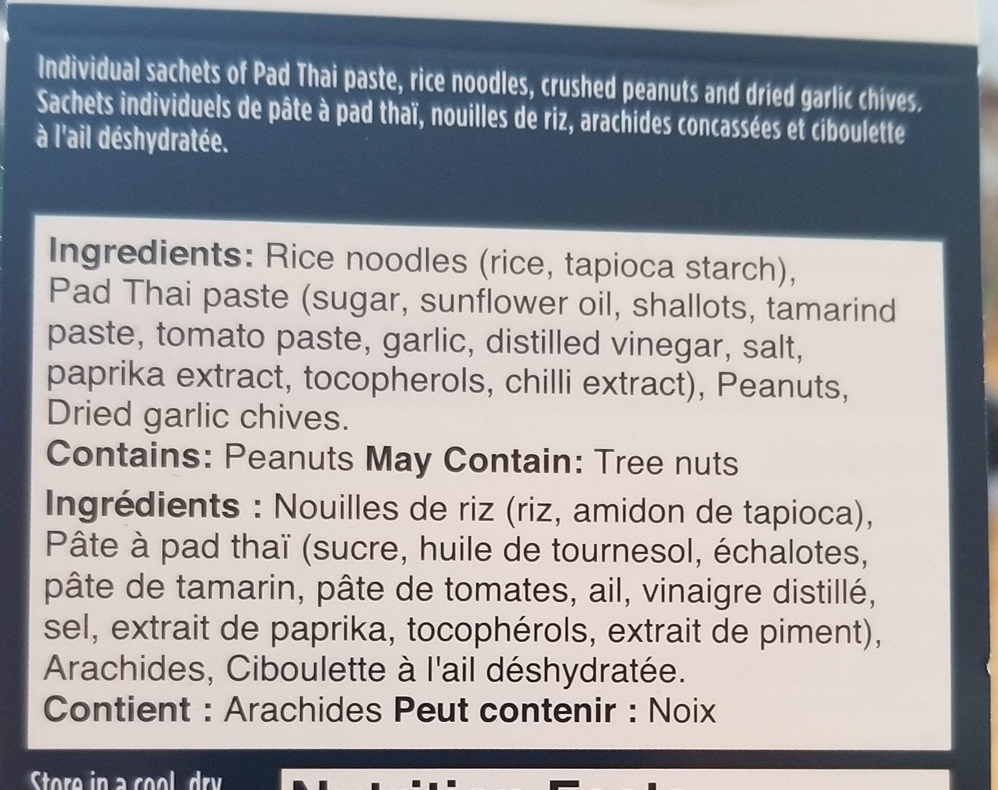 3 step/étapes  PAD THAI - Ingredients - fr
