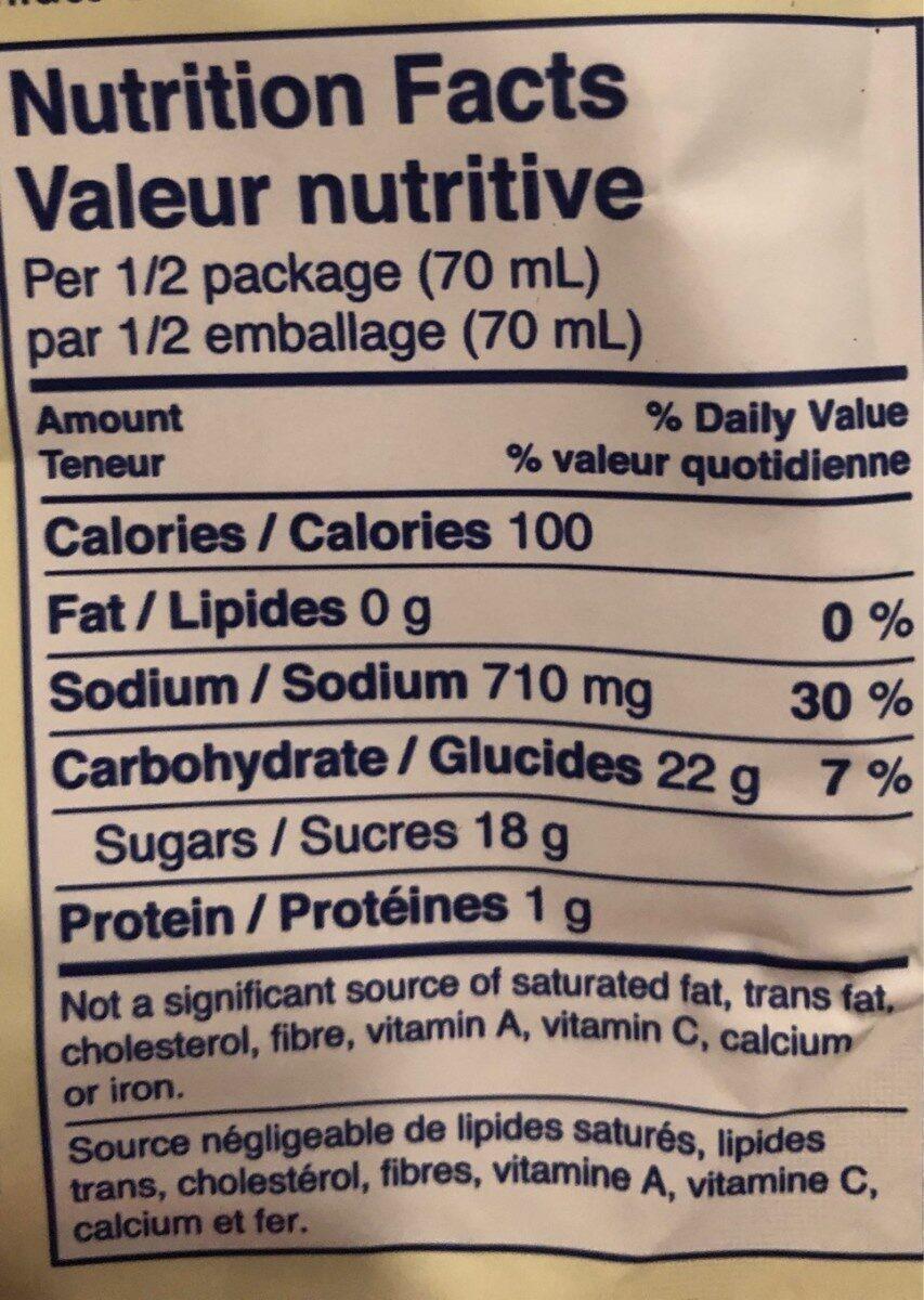 Sauce pour sauté boeuf brocoli - Nutrition facts - fr