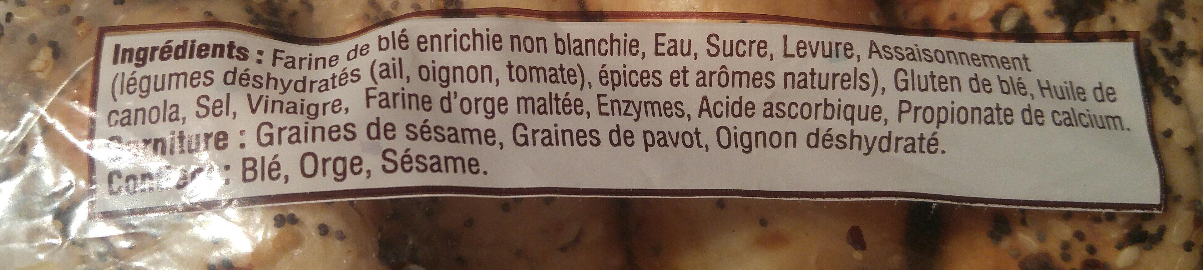 Bagel - Ingrédients - fr